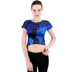 Network Networking Europe Asia Crew Neck Crop Top