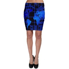 Network Networking Europe Asia Bodycon Skirt