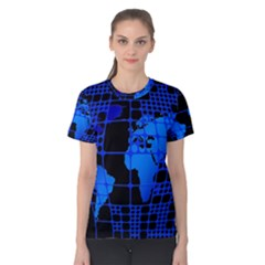 Network Networking Europe Asia Women s Cotton Tee