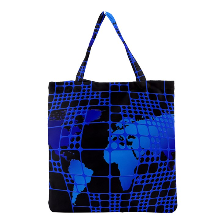 Network Networking Europe Asia Grocery Tote Bag