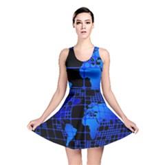 Network Networking Europe Asia Reversible Skater Dress