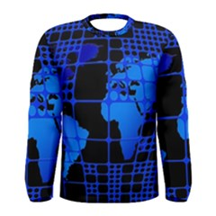 Network Networking Europe Asia Men s Long Sleeve Tee