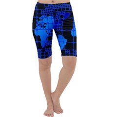 Network Networking Europe Asia Cropped Leggings