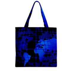 Network Networking Europe Asia Zipper Grocery Tote Bag