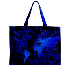 Network Networking Europe Asia Zipper Mini Tote Bag