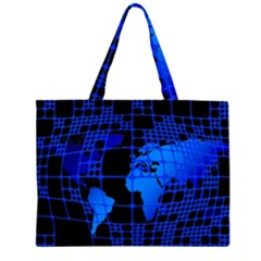 Network Networking Europe Asia Large Tote Bag