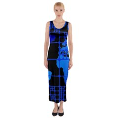 Network Networking Europe Asia Fitted Maxi Dress