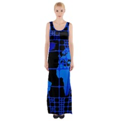 Network Networking Europe Asia Maxi Thigh Split Dress