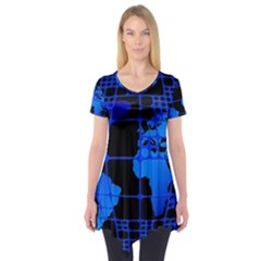 Network Networking Europe Asia Short Sleeve Tunic