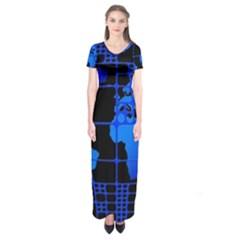 Network Networking Europe Asia Short Sleeve Maxi Dress