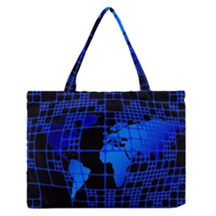 Network Networking Europe Asia Medium Zipper Tote Bag
