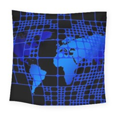 Network Networking Europe Asia Square Tapestry (large)