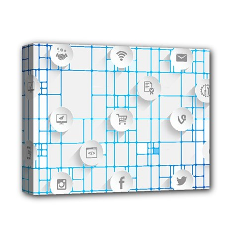 Icon Media Social Network Deluxe Canvas 14  x 11