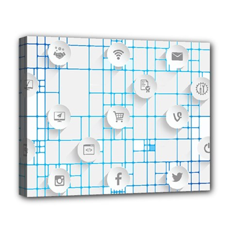 Icon Media Social Network Deluxe Canvas 20  X 16