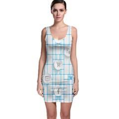 Icon Media Social Network Sleeveless Bodycon Dress