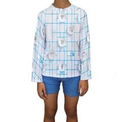 Icon Media Social Network Kids  Long Sleeve Swimwear