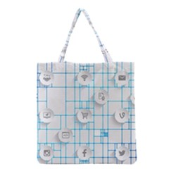 Icon Media Social Network Grocery Tote Bag