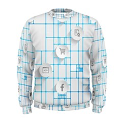 Icon Media Social Network Men s Sweatshirt