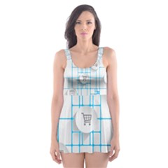 Icon Media Social Network Skater Dress Swimsuit