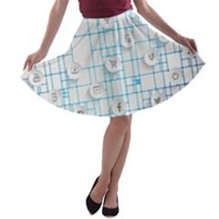 Icon Media Social Network A-line Skater Skirt