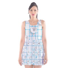 Icon Media Social Network Scoop Neck Skater Dress