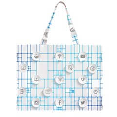 Icon Media Social Network Large Tote Bag