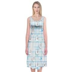 Icon Media Social Network Midi Sleeveless Dress