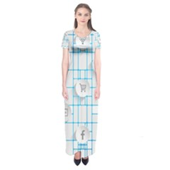 Icon Media Social Network Short Sleeve Maxi Dress