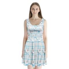Icon Media Social Network Split Back Mini Dress