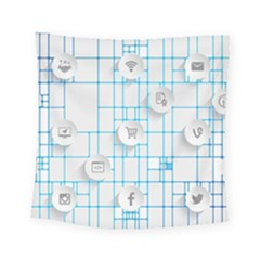 Icon Media Social Network Square Tapestry (small)