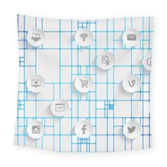 Icon Media Social Network Square Tapestry (large)