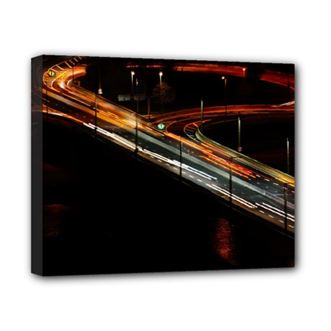 Highway Night Lighthouse Car Fast Canvas 10  X 8