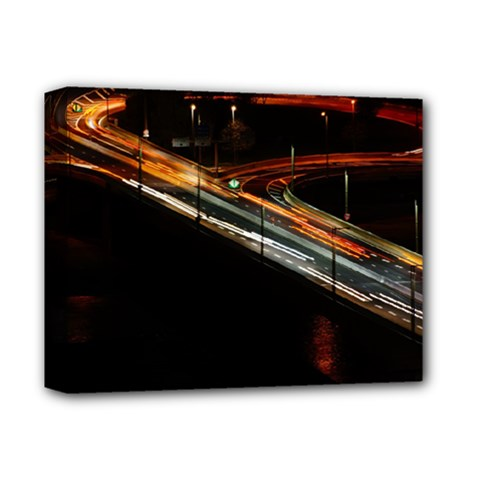 Highway Night Lighthouse Car Fast Deluxe Canvas 14  X 11