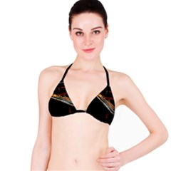 Highway Night Lighthouse Car Fast Bikini Top