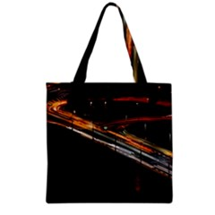 Highway Night Lighthouse Car Fast Grocery Tote Bag