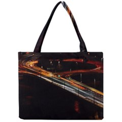 Highway Night Lighthouse Car Fast Mini Tote Bag