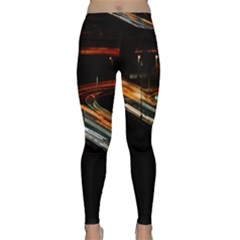 Highway Night Lighthouse Car Fast Classic Yoga Leggings