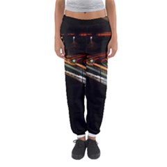 Highway Night Lighthouse Car Fast Women s Jogger Sweatpants