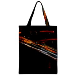Highway Night Lighthouse Car Fast Zipper Classic Tote Bag