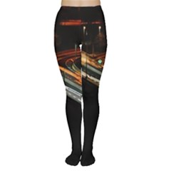 Highway Night Lighthouse Car Fast Women s Tights