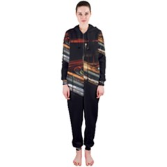 Highway Night Lighthouse Car Fast Hooded Jumpsuit (Ladies)