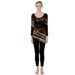 Highway Night Lighthouse Car Fast Long Sleeve Catsuit