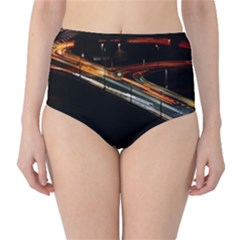 Highway Night Lighthouse Car Fast High Waist Bikini Bottoms