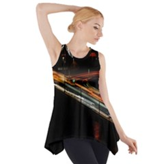 Highway Night Lighthouse Car Fast Side Drop Tank Tunic