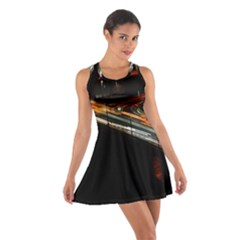 Highway Night Lighthouse Car Fast Cotton Racerback Dress