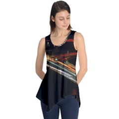 Highway Night Lighthouse Car Fast Sleeveless Tunic