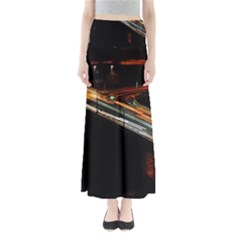 Highway Night Lighthouse Car Fast Maxi Skirts