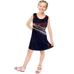 Highway Night Lighthouse Car Fast Kids  Tunic Dress