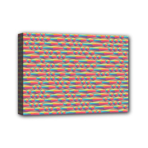 Background Abstract Colorful Mini Canvas 7  X 5