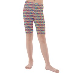 Background Abstract Colorful Kids  Mid Length Swim Shorts
